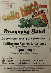 Samba Drumming Group @ Callington Leisure Centre | England | United Kingdom