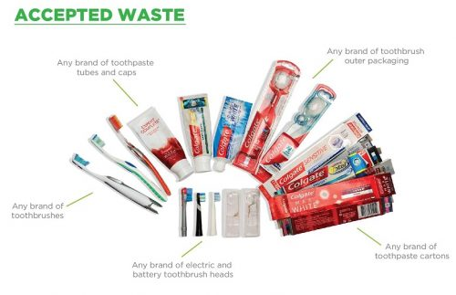 toothpaste tubes, toothbrushes and toothbrush heads